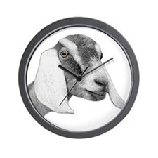 Nubian Goat Sketch Wall Clock
