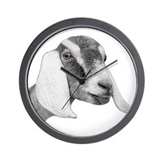Nubian Goat Sketch Wall Clock