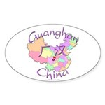 Guanghan China Oval Sticker (10 pk)