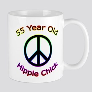 Hippie Chick 55th Birthday Mug