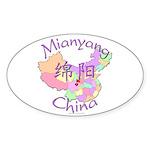 Mianyang China Oval Sticker (10 pk)