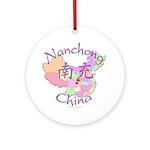 Nanchong China Map Ornament (Round)