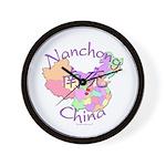Nanchong China Map Wall Clock