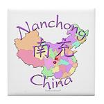 Nanchong China Map Tile Coaster
