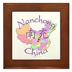 Nanchong China Map Framed Tile