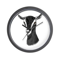 Alpine Goat Portrait Wall Clock
