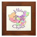 Yibin China Map Framed Tile