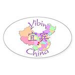 Yibin China Map Oval Sticker (10 pk)