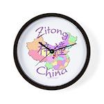 Zitong China Map Wall Clock