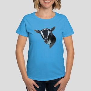 NIgerian Dwarf Goat Portrait Women's Dark T-Shirt