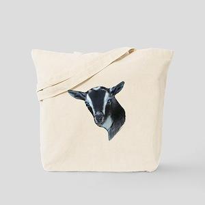 NIgerian Dwarf Goat Portrait Tote Bag