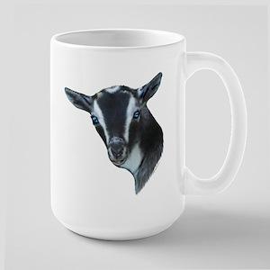 NIgerian Dwarf Goat Portrait Large Mug