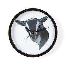 NIgerian Dwarf Goat Portrait Wall Clock