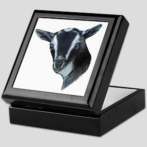 NIgerian Dwarf Goat Portrait Keepsake Box