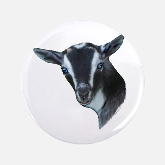 """NIgerian Dwarf Goat Portrait 3.5"""" Button"""
