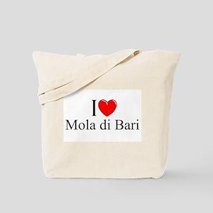 """I Love (Heart) Mola di Bari"" Tote Bag"