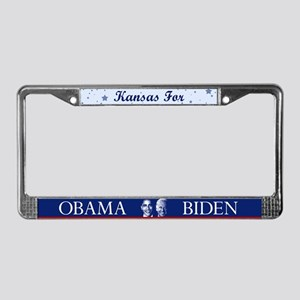 Kansas for Obama License Plate Frame