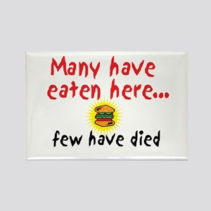 Many Have Eaten Here Rectangle Magnet (10 pack)