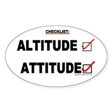 *New Design* Attitude-Check! Oval Sticker