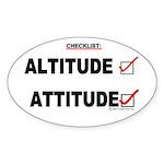 *New Design* Attitude-Check! Oval Sticker