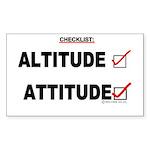 *New Design* Attitude-Check! Rectangle Sticker