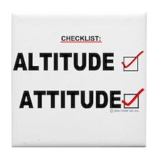 *New Design* Attitude-Check! Tile Coaster