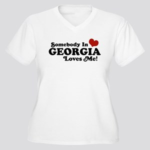 Somebody in Georgia Loves Me Women's Plus Size V-N