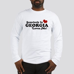 Somebody in Georgia Loves Me Long Sleeve T-Shirt