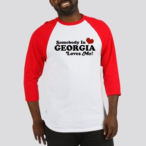 Somebody in Georgia Loves Me Baseball Jersey