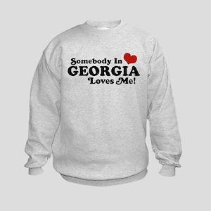 Somebody in Georgia Loves Me Kids Sweatshirt