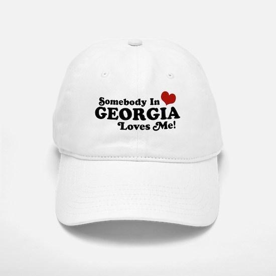 Somebody in Georgia Loves Me Baseball Baseball Cap