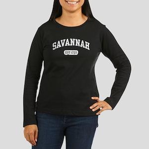 Savannah Est 1733 Women's Long Sleeve Dark T-Shirt