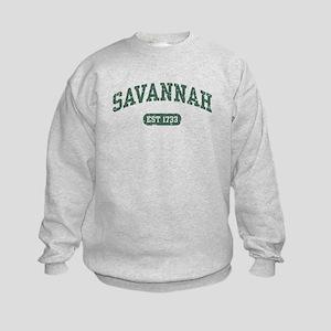 Savannah Est 1733 Kids Sweatshirt