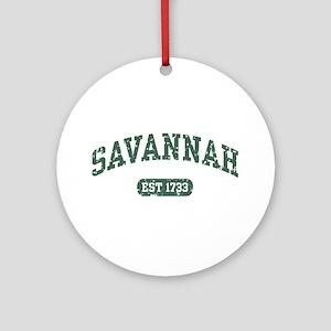 Savannah Est 1733 Ornament (Round)