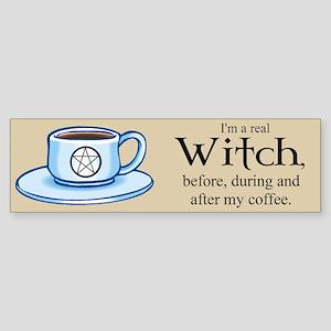 Coffee Witch Bumper Sticker