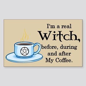 Coffee Witch Rectangle Sticker