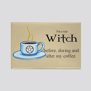 Coffee Witch Rectangle Magnet