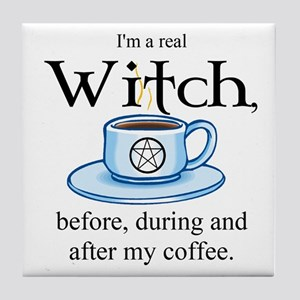 Coffee Witch Tile Coaster
