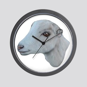LaMancha Goat Portrait Wall Clock