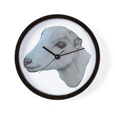LaMancha Goat Portrait Wall Clock