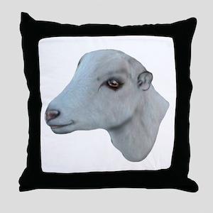 LaMancha Goat Portrait Throw Pillow