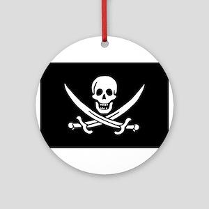 Pirate Captain Calico Jack Ra Ornament (Round)