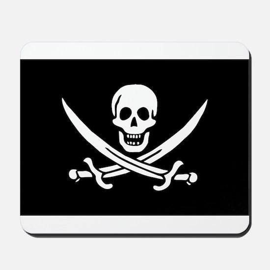 Pirate Captain Calico Jack Ra Mousepad