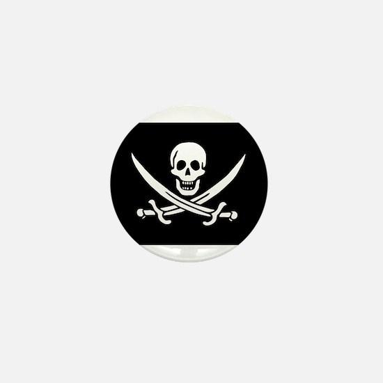 Pirate Captain Calico Jack Ra Mini Button