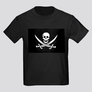 Pirate Captain Calico Jack Ra Kids Dark T-Shirt
