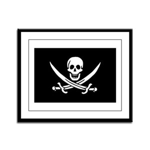 Pirate Captain Calico Jack Ra Framed Panel Print