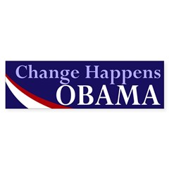 Change Happens Obama bumper sticker