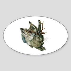 Wolpertinger Oval Sticker