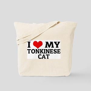 I Love My Tonkinese Cat Tote Bag