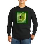 Go Green Fairy Spreads the Wo Long Sleeve Dark T-S